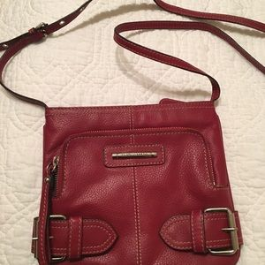 Genuine Leather Franco Sarto Crossbody Red Purse